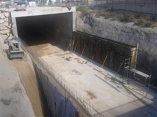 Soterramiento de acceso al puerto de Garrucha